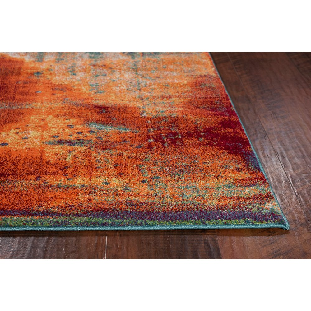 8 X 11 Large Rust Gray And Blue Rug Illusions Rc Willey Furniture