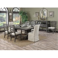 Charcoal 7 Piece Dining Room Set - Paladin