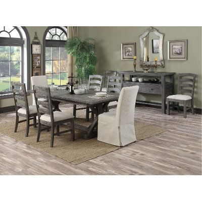 Charcoal 7 Piece Dining Set - Paladin | RC Willey Furniture Store
