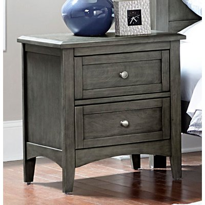 Gray Casual Classic Nightstand - Garcia