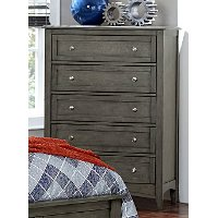 Gray Casual Classic Chest of Drawers - Garcia