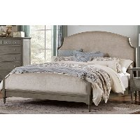 Gray Classic Traditional Upholstered California King Bed - Albright