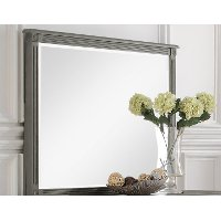 Classic Antique Gray Mirror - Aviana