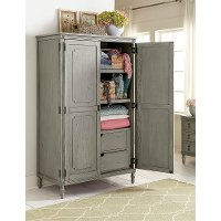 Classic Antique Gray Armoire - Aviana