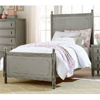 Classic Antique Gray Twin Bed - Aviana