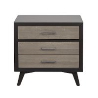 Contemporary Gray and Black Nightstand - Raku