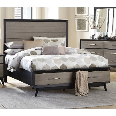 Contemporary Gray and Black King Storage Bed - Raku  sc 1 st  RC Willey & Contemporary Gray and Black Queen Storage Bed - Raku | RC Willey ...