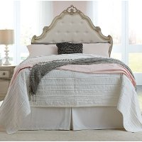 Antique White Traditional Twin Bed - Giselle