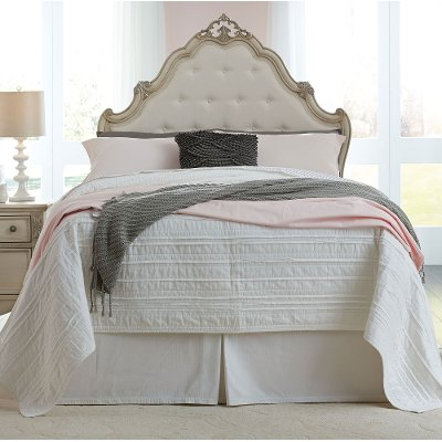 antique white traditional full size bed giselle - White Full Size Bed Frame