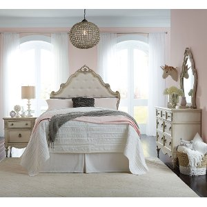 Antique White Traditional 5 Piece Full Bedroom Set - Giselle | RC ...