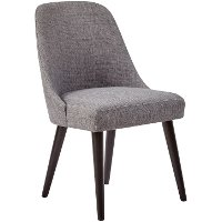 Gray Wash Upholstered Dining Chair - American Retrospective