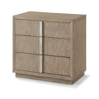 Modern Driftwood Gray Nightstand - Melbourne