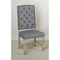 Barn Wash and Gray Upholstered Dining Chair - Willow Creek Collection