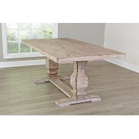 Barn Washed Trestle Table - Willow Creek Collection
