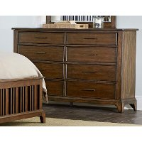 Cherry Brown Classic Dresser - Mill Creek