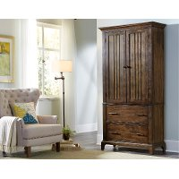 Rustic Classic Cherry Brown Armoire - Mill Creek