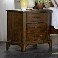 Cherry Brown Classic Nightstand - Mill Creek