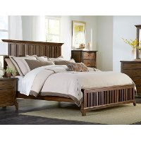 Cherry Brown Classic Queen Bed - Mill Creek
