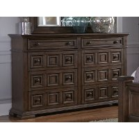 Cordovan Brown Traditional Dresser - Lucca