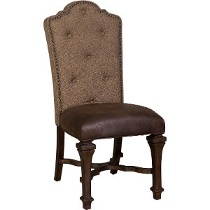 ... Cordovan Brown Tufted Dining Room Chair   Lucca