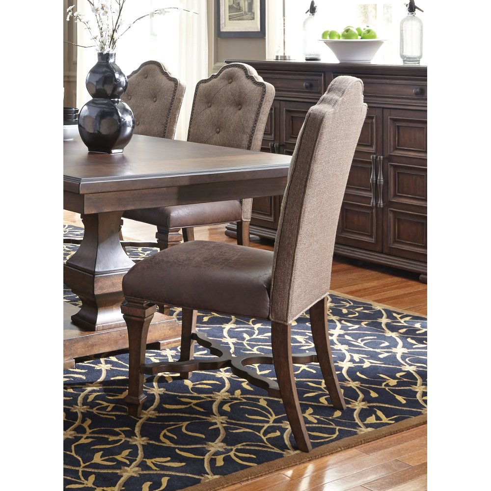 Cordovan Brown Tufted Dining Room Chair   Lucca | RC Willey Furniture Store