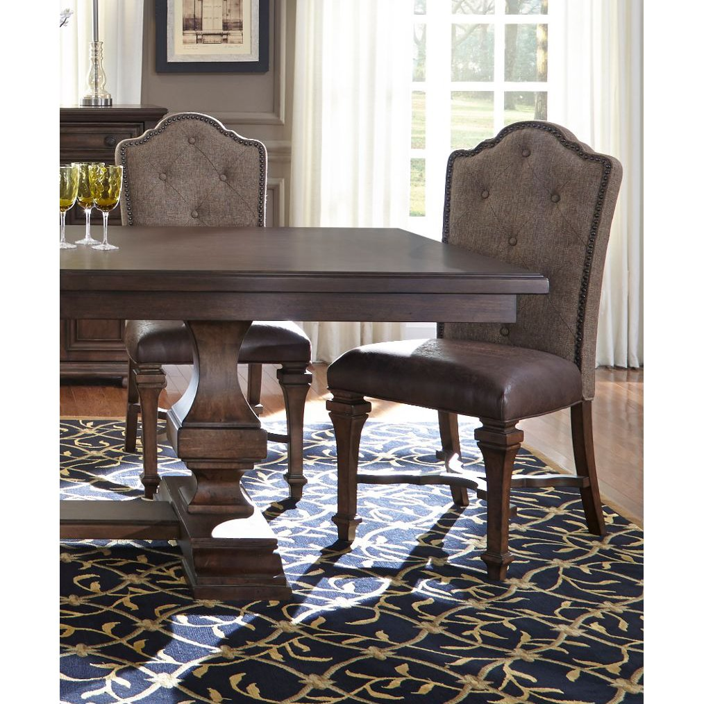 Cordovan Brown Tufted Dining Room Chair - Lucca | RC Willey ...