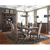 Cordovan Brown 7 Piece Dining Set - Lucca Collection