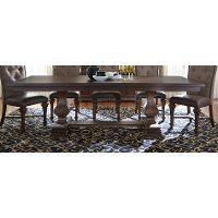 Cordovan Brown Dining Table - Lucca Collection