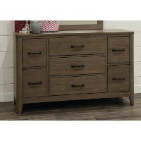 Contemporary Brown Dresser - Cottonwood Creek