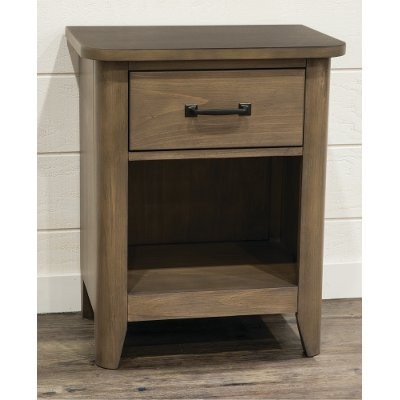 Contemporary Brown Nightstand - Cottonwood Creek