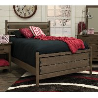 Contemporary Brown Twin Bed - Cottonwood Creek