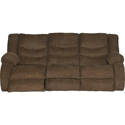 Chocolate Brown Dual Reclining Sofa - Tulen