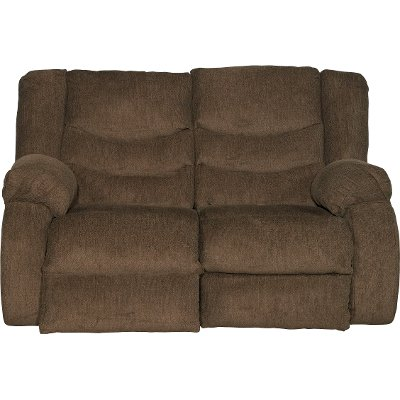 Chocolate Brown Dual Reclining Loveseat - Tulen