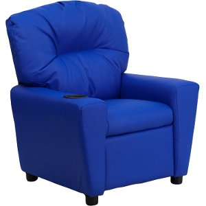 ... Blue Vinyl Kids Recliner with Cup Holder ...  sc 1 st  RC Willey & Decorate your kids bedroom with kid furniture at RC Willey islam-shia.org