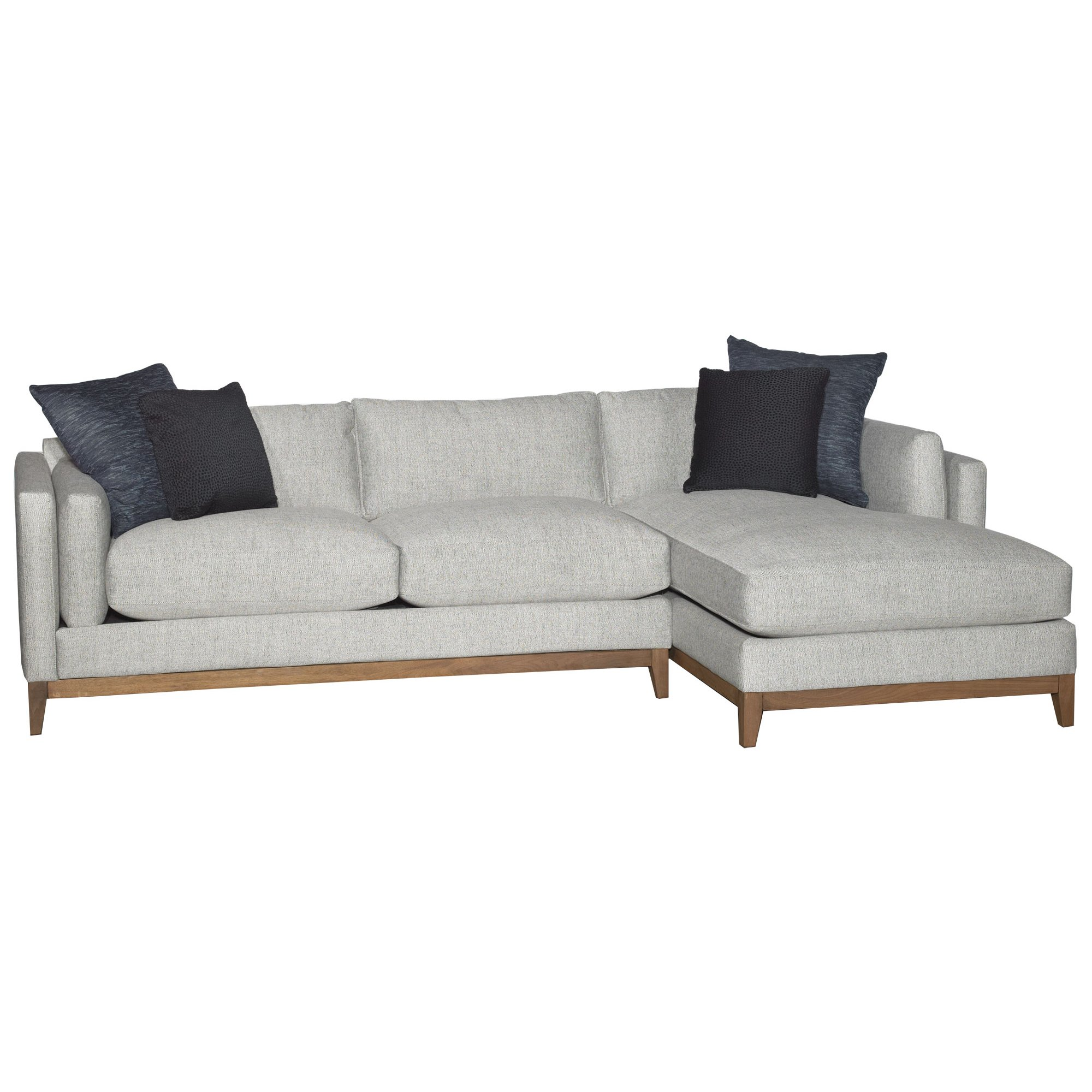 ... Mid-Century Modern Stone 2-Piece Sectional - Kelsey ...  sc 1 st  RC Willey : jonathan louis sectional - Sectionals, Sofas & Couches