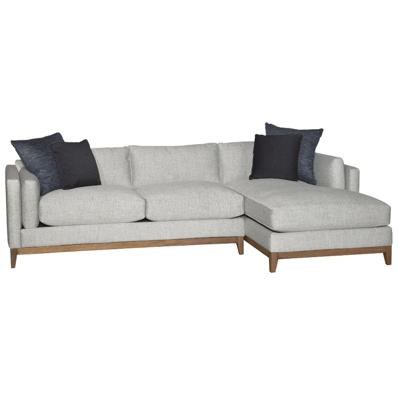Stone 2 Piece Sectional Sofa with RAF Chaise - Kelsey
