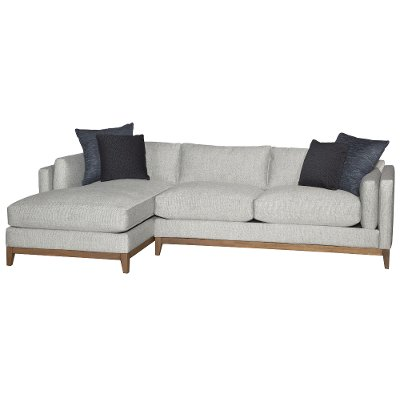 Stone Mid Century Modern 2 Piece Sectional   Kelsey