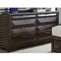 Cappuccino Brown Contemporary Dresser - Newland