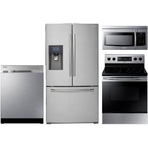 ... KIT Samsung 4 Piece Kitchen Appliance Package   Stainless Steel