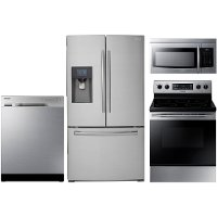 KIT Samsung 4-Piece Stainless Steel Kitchen Appliance Package