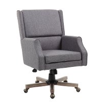Gray Linen Office Chair