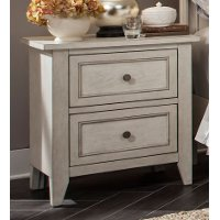 Weathered White Casual Traditional Nightstand - Raelynn