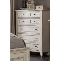 Weathered White Chest of Drawers - Raelynn