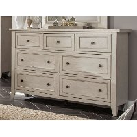 Weathered White Dresser - Raelynn