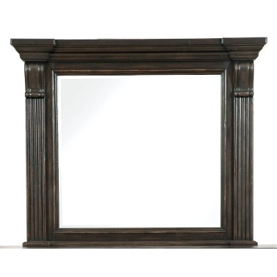 Classic Traditional Dark Brown Mirror - Caldwell