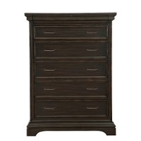 Classic Traditional Dark Brown Chest of Drawers - Caldwell