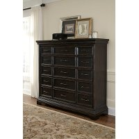 Classic Traditional Brown Master Chest of Drawers - Caldwell