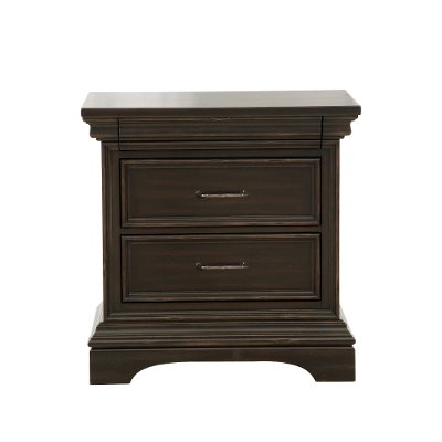Classic Traditional Dark Brown Nightstand - Caldwell