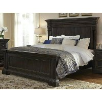 Classic Traditional Dark Brown Queen Bed - Caldwell