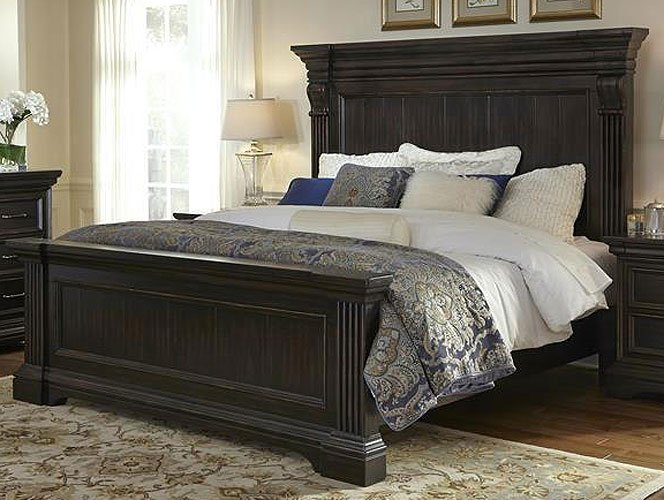 Molasses Classic Traditional 6 Piece California King Bed Bedroom Set Caldwell Rc Willey